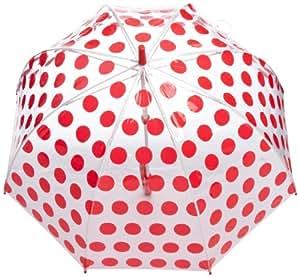 Cath Kidston Birdcage 2 Women's Umbrella Big Spot Red One Size