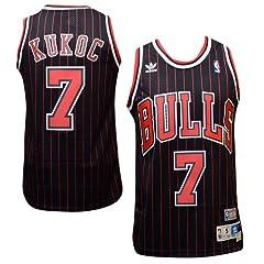 Chicago Bulls #7 Toni Kukoc NBA Soul Swingman Jersey, Black by adidas