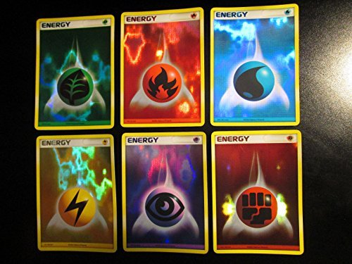 6 Pokemon Energy Cards - Complete Reverse Holo Foil Promo Set (STILL SEALED) from 2006 (10 Psychic Energy Pokemon compare prices)