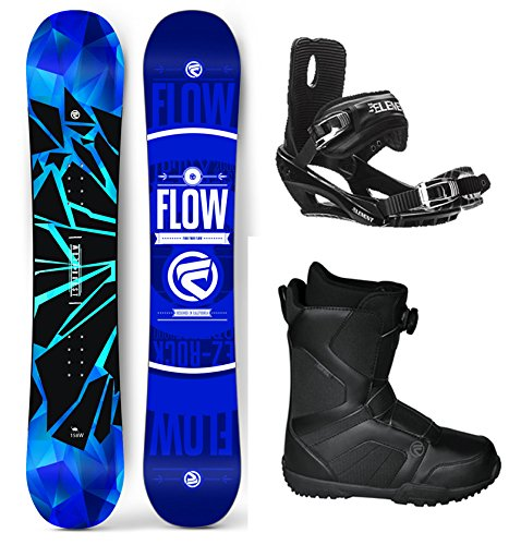 Flow 2017 Burst WIDE Men's Complete Snowboard Package Bindings BOA Boots 4 YR WARRANTY - Board Size 162 WIDE (Boot Size 11) (Flow Snowboard Packages Mens compare prices)
