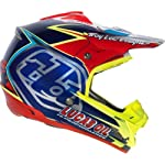 Troy Lee Designs Team SE3 Off-Road/Dirt Bike Motorcycle Helmet - Navy/Red / Large