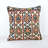 Wool Pillow, KP1078, Kilim Pillow, Decorative Pillows, Designer Pillows, Bohemian Decor, Bohemian Pillow, Accent Pillows, Throw Pillows