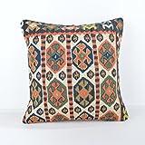 Wool Pillow, KP1078, Kilim Pillow, Decorative Pillows, Designer Pillows, Bohemian Decor, Bohemian Pillow, Accent Pillows, Throw Pillows