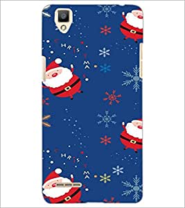 PrintDhaba Santa Claus D-2230 Back Case Cover for OPPO F1 (Multi-Coloured)