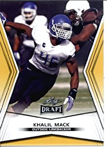 2014 Leaf Draft Edition Football Khalil Mack Oakland Raiders Rookie Card #DE-15
