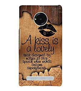 A kiss Is Lovely 3D Hard Polycarbonate Designer Back Case Cover for YU Yureka Plus