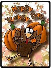 Pick A Best 58quot x 80quot Large Fleece Blanket Cute Turkey Happy Thanksgiving Day Theme Blanket