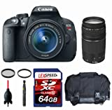 Canon EOS Rebel T5i W/ EF-S 18-135mm Lens + Canon EF 75-300mm + Gadget Bag + Filters + 64GB (10)