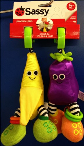Sassy Produce Pals Attachable Toys (Discontinued by Manufacturer)