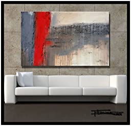 Modern Abstract Painting, Limited Edition Giclee on Canvas. 48 x 30 x 1.5 Textured. Ready to Hang. Direct from Studio ELOISE WORLD.