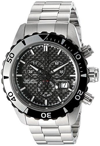 Invicta Men's 12860 Pro Diver Chronograph Black Carbon Fiber Dial Stainless Steel Watch (Carbon Fiber Dial Watch compare prices)