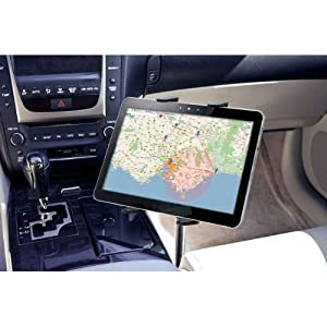 Tablet Mount for Car, Hands-Free Robust Seat Rail Tablet car Holder for Apple iPad Mini iPad Air iPad Pro, Samsung Galaxy TAB A E S4 S3 (7-15 tablets) w/Anti-Vibration Gooseneck and Swivel Cradle
