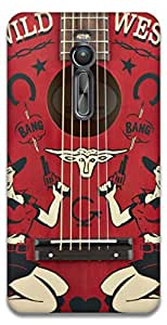 The Racoon Lean Western Guitar hard plastic printed back case / cover for Asus Zenfone 2 ZE551ML