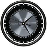 CIRCULAR SAW BLADE Wall Clock carpenter tools saw blade horror gag gift