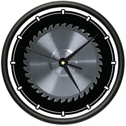 CIRCULAR-SAW-BLADE-Wall-Clock-carpenter-tools-saw-blade-horror-gag-gift