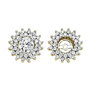 14K Yellow Gold 1/2 ct. Diamond Earring Jackets