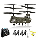 """S026G v2 Chinook CH-47, RC ferngesteuerter 3.5 Kanal Hubschrauber, 6 Richtungen Fliegen, Heli mit integriertem Akku und Fernsteuerung, Ready-to-Fly Modell, Neuvon """"HSP Himoto"""""""