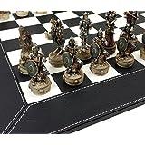 Skeleton Slayer Gothic Fantasy Skull Chess Set W/ 18