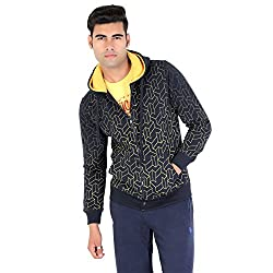 Bongio Men's Hooded Indigo Stylish Jacket_RMW5A11009A (Small)