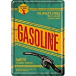 Plaque en metal 10 x 14 cm - Gasoline