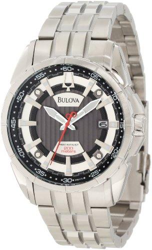 Bulova 96B172 Men's Precisionist Campton Stainless Steel Grey Dial Dive Watch
