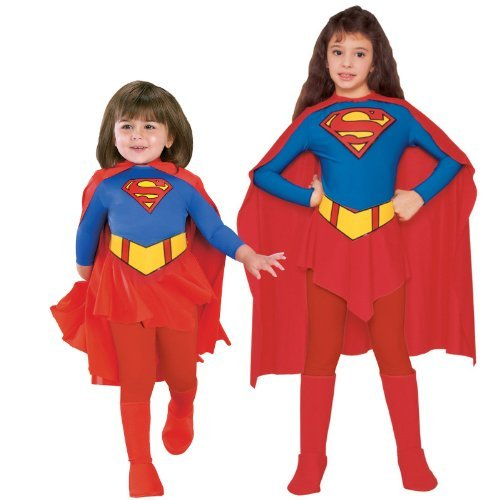 Supergirl - Child - Large - Age 8-10. An official licensed costume. Superhero. Ideal for your Super hero fancy dress party. Picture for reference only. Accessories not included unless otherwise stated