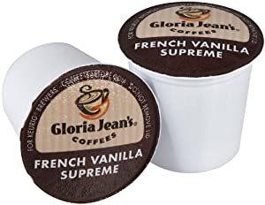Gloria Jean's Coffees, French Vanilla Supreme, K-Cup for Keurig Brewers
