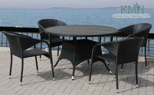 Gartenmobel Gebraucht Willhaben : Günstige  5  Teilige Gartensitzgruppe (1 runder Tisch und 4