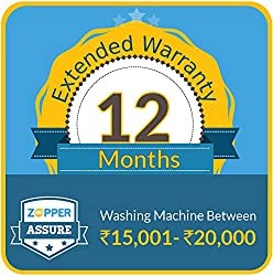 Zopper Assure 12 Months Extended Warranty for Washing Machine (Rs 15001 - 20000)