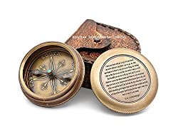 Compass EE Cummings Famous Poem I carry your heart with me .FREE ENGRAVING.