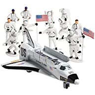 Die-cast Metal Space Shuttle with Astronaut Figures (Set Includes 1 Metal Die-cast Pull and Go Space…