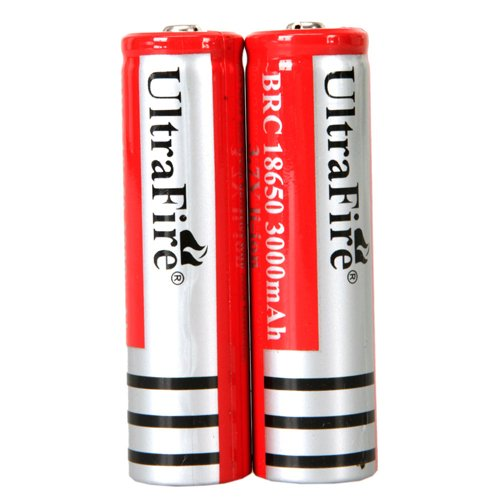 2- Pack 3.7v 3000mah Ultrafire 18650 Li-ion Rechargeable Battery
