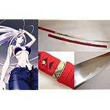 Dream2reality Cosplay Tenjo Tenge Natsume Maya Straight Replica Sword T10 Clay Tempered High Carbon Steel Full Handmade Full Tang Katana