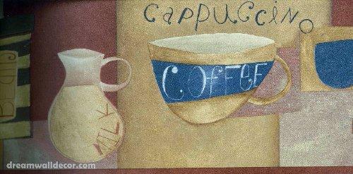 Brown White Milk Coffee Wallpaper Border 78236 Cu