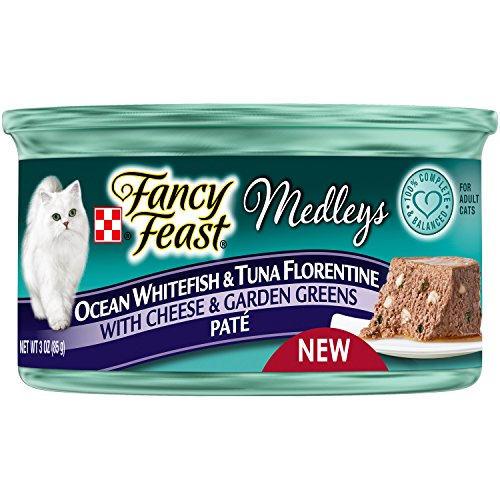 Fancy Feast Ocean Whitefish & Tuna Florentine Paté With Cheese & Garden Greens