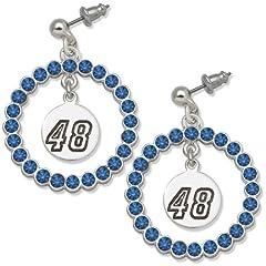 Jimmie Johnson #48 Spirit Crystal Logo Wreath Earrings by Logo Art