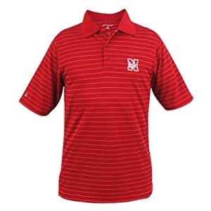 Nebraska Cornhuskers Antigua Mens Elevate Polo by Antigua