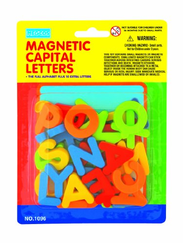 megcos Magnetic Capital Letters in a Blister Card, 36-Piece - 1