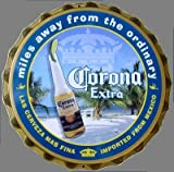 Corona Extra Cap Beach Metal Sign
