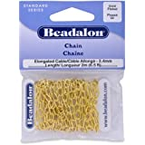 Beadalon Chain 3.4mm Elong Gold Plated, 2-Meters