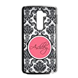 Monogram Personalized Damask Pattern Vs Rose Initials LG G2 Fit for AT&T Best Durable PVC Cover Case