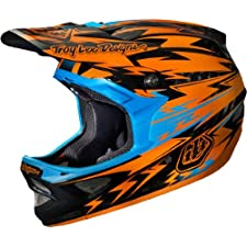 Troy Lee Designs Thunder CF D3 Carbon Bike Race BMX Helmet - Orange / Medium