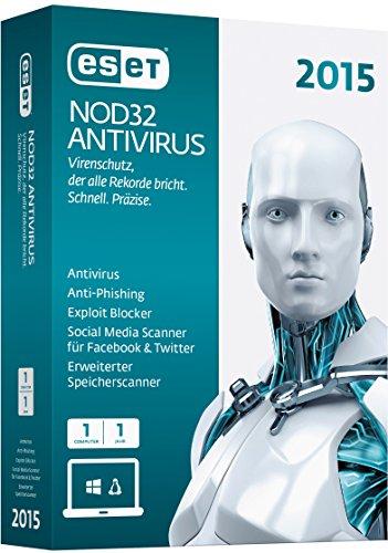 ESET NOD32 AntiVirus 2015 – 1 PC [import allemand]