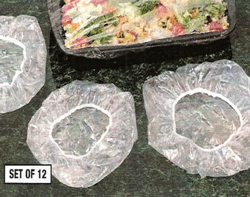 REUSABLE ELASTIC FOOD COVERS - 2 LARGE SIZES FOR ROASTERS/CAKES/LASAGNA'S AND MORE! (SET OF 12)