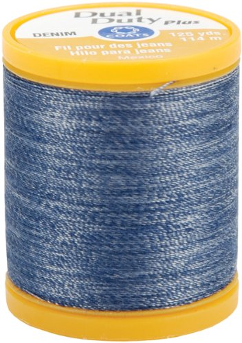 Great Features Of Coats & Clark Dual Duty Denim Thread For Jeans 125 Yds: Denim Blue