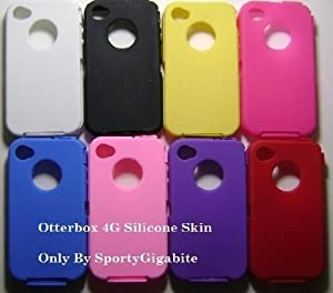 Silicone Skin For Otterbox iphone 4 and 4G by SportyGigabite (All 8 Colors)
