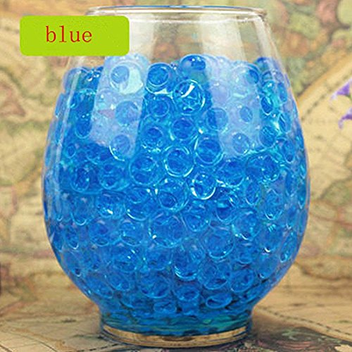 Lingstar Deco Vase Filler Water Pearl Storing Jelly Beads Wedding Home Decor Display Blue 1200beads 12pack (Light Blue Water Pearls compare prices)