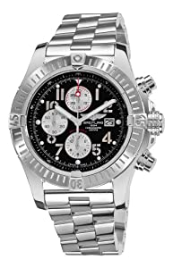 Breitling Men's A1337011/B973 Super Avenger Black Chronograph Dial Watch from BRIT ARCH OF COUNTRY