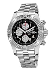 Breitling Men's A1337011/B973 Super Avenger New Black Chronograph Dial Watch