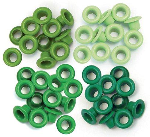 Set de 60 eyelets para Crop a Dile color verde de 0,5cm 41576-3